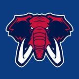 Logotipo del elefante del equipo de deporte de la universidad ilustración del vector