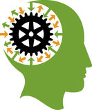 Logotipo del engranaje de la mente libre illustration