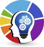 Logotipo del engranaje de la mente Fotos de archivo