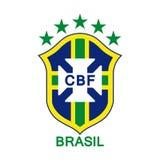 Logotipo del equipo de fútbol nacional brasileño ilustración del vector