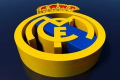 Logotipo del equipo de fútbol del Real Madrid Representación editorial 3D
