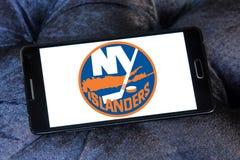 Logotipo del equipo de hockey del hielo de los New York Islanders foto de archivo
