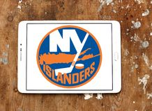 Logotipo del equipo de hockey del hielo de los New York Islanders fotografía de archivo
