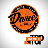 Logotipo del estudio de la danza del vector ilustración del vector