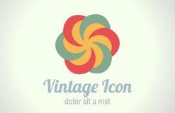 Logotipo del extracto del rertro del vintage Imágenes de archivo libres de regalías