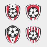 Logotipo del fútbol o sistema de la insignia de la muestra del club del fútbol Foto de archivo libre de regalías