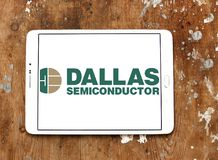 Logotipo del fabricante de Dallas Semiconductor foto de archivo