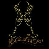 Logotipo del festival de música Imagen de archivo libre de regalías