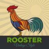 Logotipo del gallo Imagenes de archivo