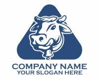 Logotipo del ganado de la vaca Imagen de archivo libre de regalías