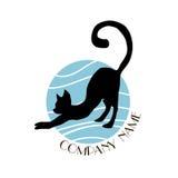 Logotipo del gato Imagen de archivo
