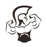 Logotipo del gimnasio Foto de archivo libre de regalías
