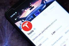 Logotipo del gorjeo de Tesla foto de archivo libre de regalías