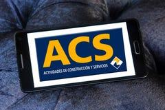 Logotipo del grupo de la construcción de Acs Fotografía de archivo