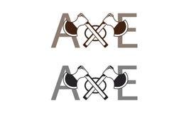 Logotipo del hacha Fotos de archivo libres de regalías