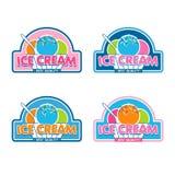 Logotipo del helado Imagen de archivo