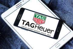 Logotipo del heuer de la etiqueta Fotografía de archivo