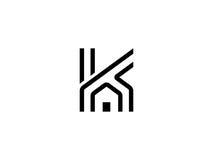 Logotipo del hogar de K Foto de archivo