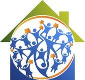 Logotipo del hogar de la educación de la pepita Fotografía de archivo libre de regalías