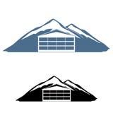Logotipo del hotel de la montaña Fotografía de archivo libre de regalías