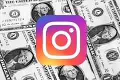 Logotipo del icono de Instagram foto de archivo libre de regalías