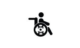 Logotipo del icono de la incapacidad Fotos de archivo
