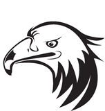 Logotipo del icono de la silueta de la cabeza de Eagle Fotografía de archivo libre de regalías