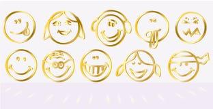 Logotipo del icono de la sonrisa Fotos de archivo libres de regalías