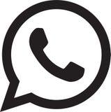 Logotipo del icono de Whatsapp stock de ilustración
