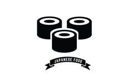 Logotipo del icono del sushi Imágenes de archivo libres de regalías