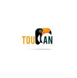 Logotipo del icono del tucán Fotos de archivo