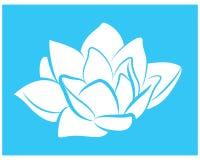 Logotipo del icono del vector de la flor de loto blanco ilustración del vector