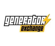 Logotipo del intercambio del generador Fotos de archivo libres de regalías