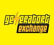 Logotipo del intercambio del generador Fotografía de archivo libre de regalías