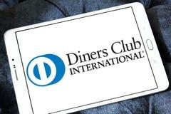 Logotipo del International del club de los comensales fotografía de archivo