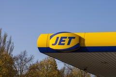 Logotipo del JET imágenes de archivo libres de regalías