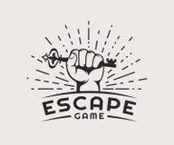 Logotipo del juego del escape libre illustration