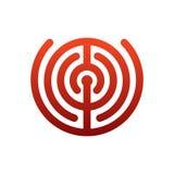 Logotipo del laberinto emblema del laberinto para la compañía Muestra de la plantilla del negocio Imagen de archivo libre de regalías