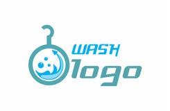 Logotipo del lavado Foto de archivo libre de regalías