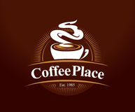 Logotipo del lugar del café Fotos de archivo