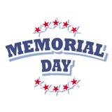 Logotipo del Memorial Day Imagenes de archivo