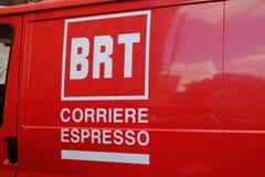 Logotipo del mensajero de Bartolini Fotografía de archivo libre de regalías