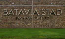 Logotipo del mercado de la moda de Batavia Stad Imagen de archivo libre de regalías
