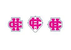 Logotipo del monograma de la letra C y de H emblema stock de ilustración
