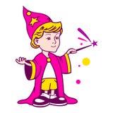 Logotipo del muchacho del mago Foto de archivo