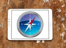 Logotipo del navegador del safari foto de archivo libre de regalías