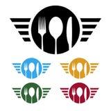 Logotipo del negocio de la comida Fotografía de archivo