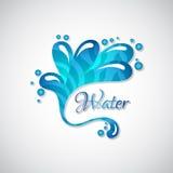 Logotipo del negocio de la salpicadura del agua azul, icono del web libre illustration