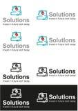 Logotipo del negocio de la solución del ordenador Fotos de archivo
