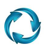 Logotipo del negocio de las flechas del éxito del vector Imagen de archivo libre de regalías